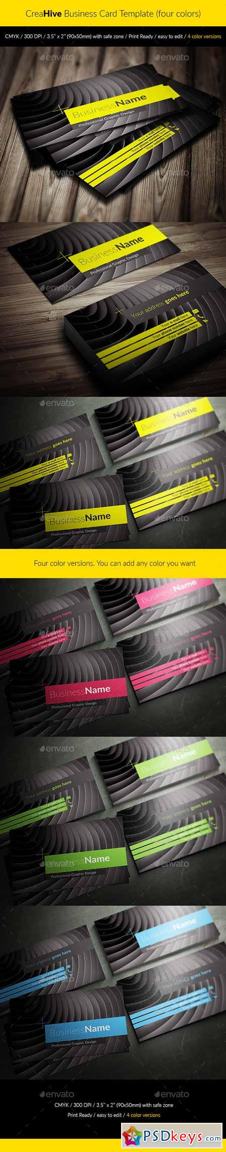 CreaHive Business Card four colors 11847175