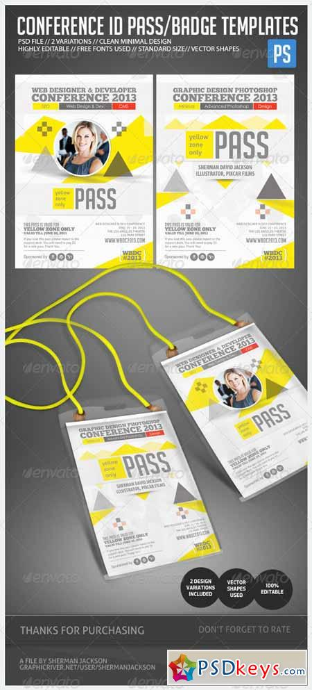 identification badges template - conference expo corporate pass id badge 4888884 free