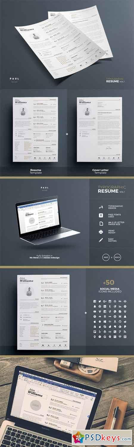 typographic resume