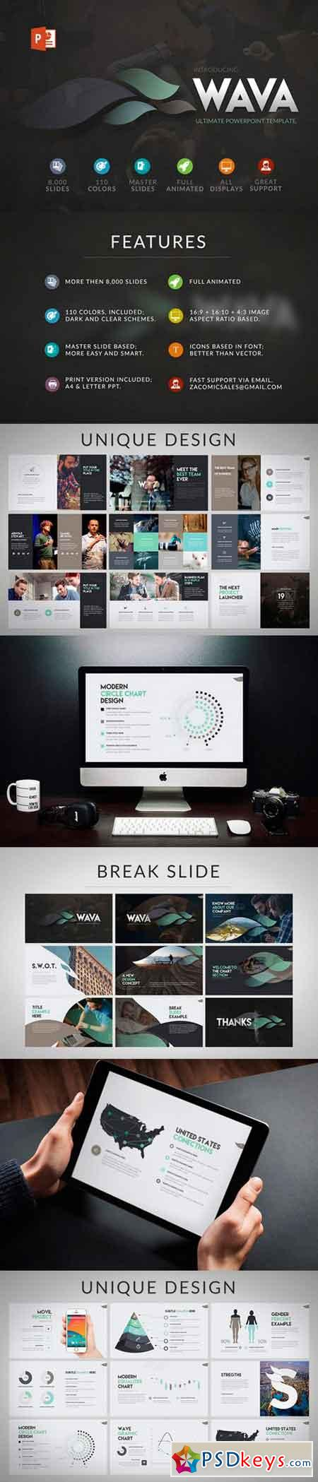 powerpoint templates torrents - wava powerpoint template 535458 free download photoshop