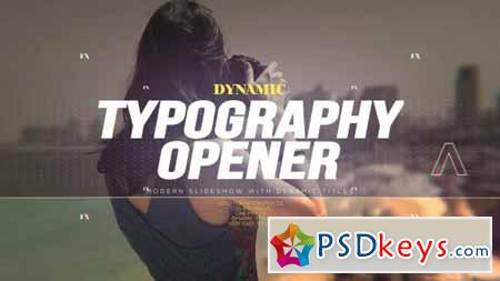 Dynamic Typography Opener - After Effects Projects