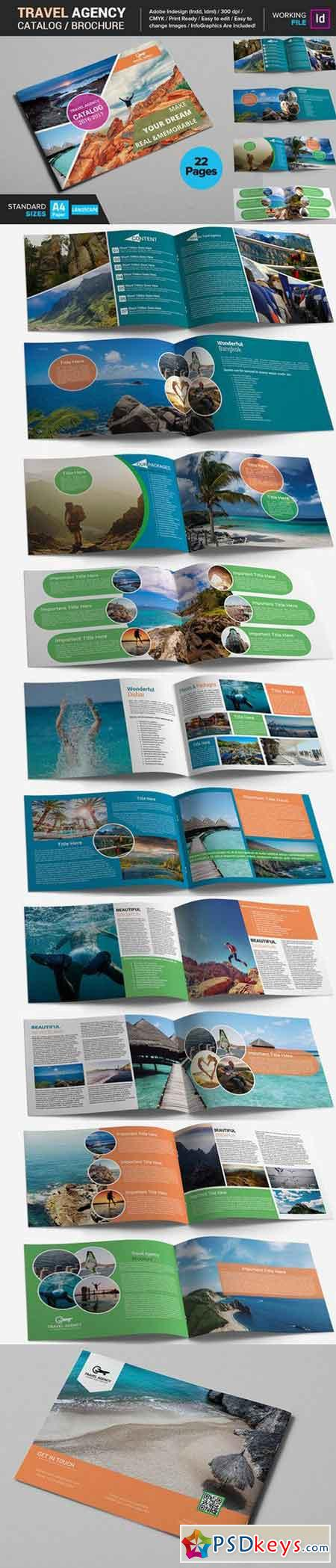 Travel Agency Catalog Brochure 549649