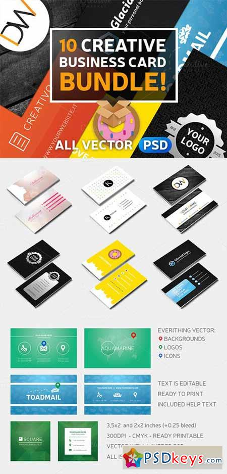 10 creative business card bundle 165033 free download photoshop 10 creative business card bundle 165033 reheart Images