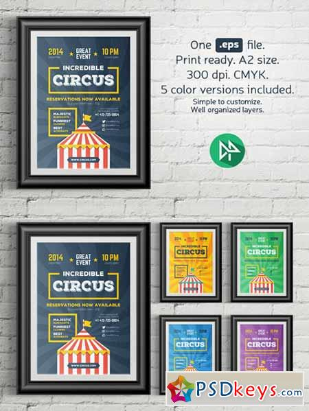 Circus poster template 114501