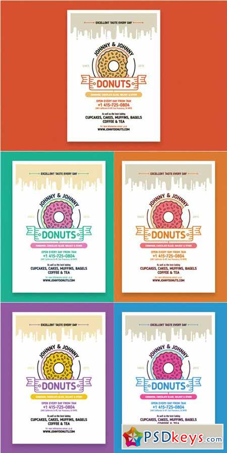 Donuts poster template 168085