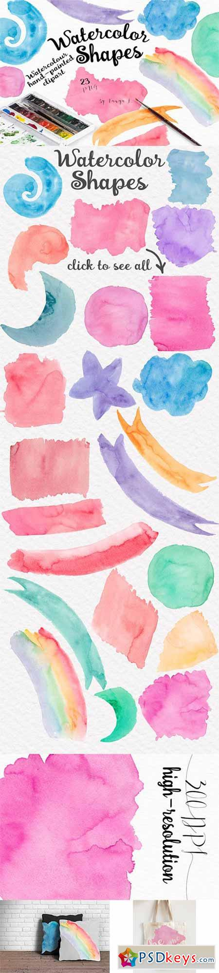 Watercolor Shapes Collection 558118