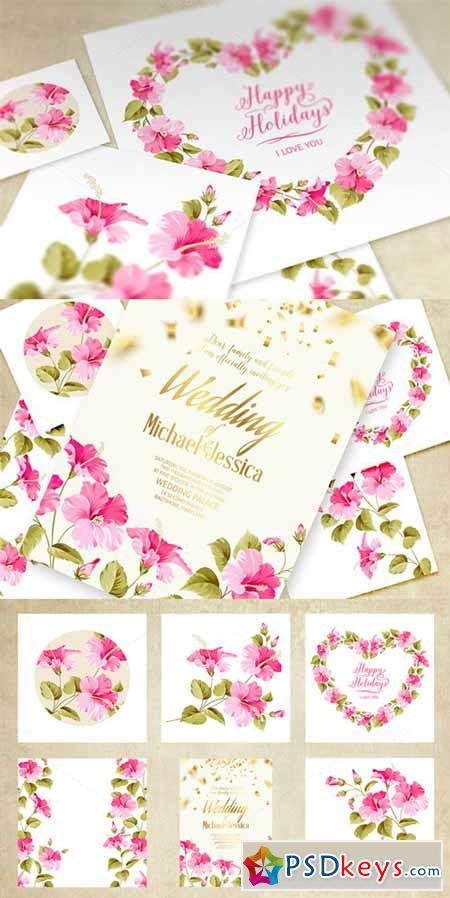 Wedding Invitation Cards Set 210069