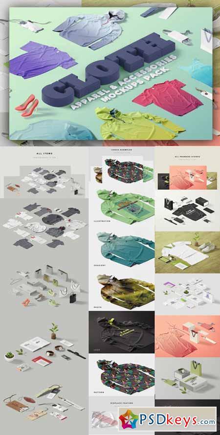 Cloth, Apparel & Accessories Mockups 555135