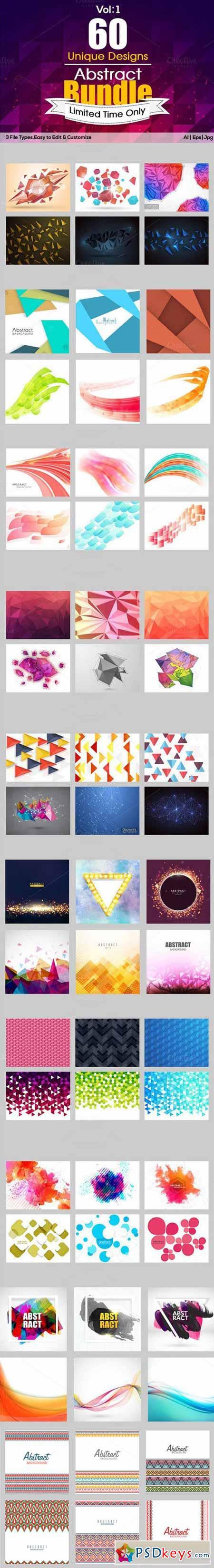 Creative Abstract Bundle - Vol 1 468546