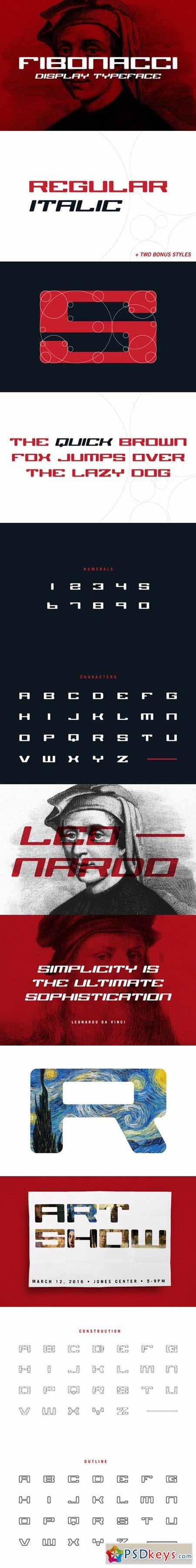 Fibonacci Display Typeface 555311