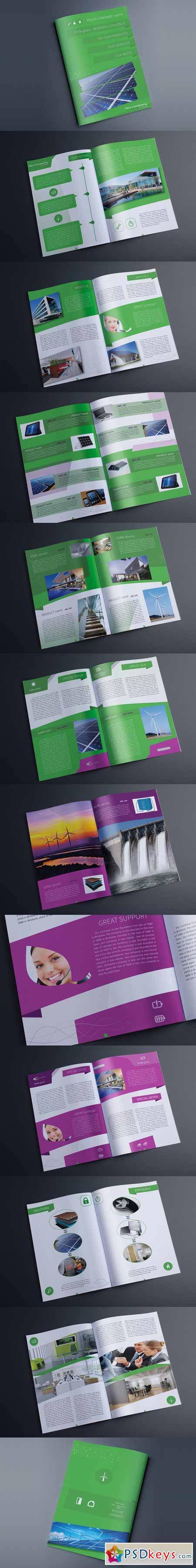 Indesign Multipurpose Green Catalog 550309