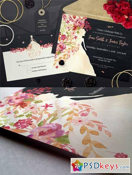 Wedding Invitation and RSVP 556955