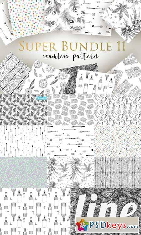 Super Bundle seamless pattern 530711