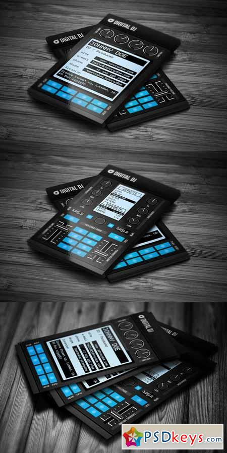 Digital DJ Business Card Template Free Download Photoshop - Free dj business card template