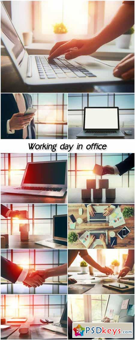 Working day in office