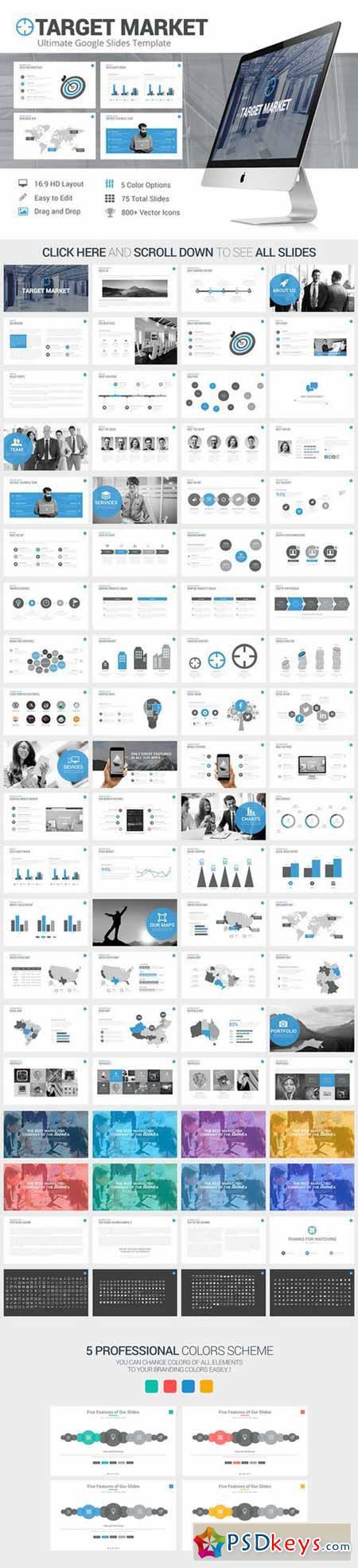 Target Market Google Slides Template 560764