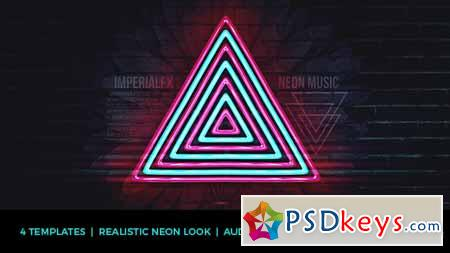 Neon Music Visualizer Audio React - After Effects Projects