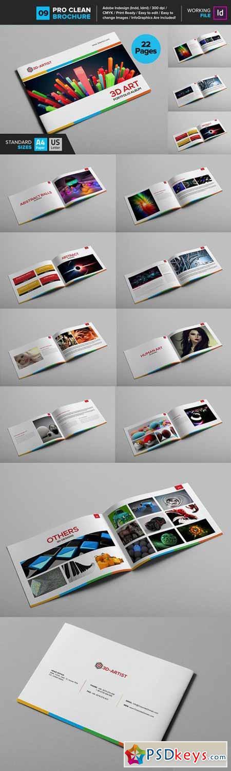 Clean Brochure Template 09 562255
