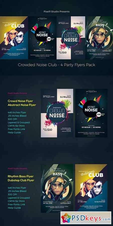 Crowded Noise Club - 4 Flyers 564290