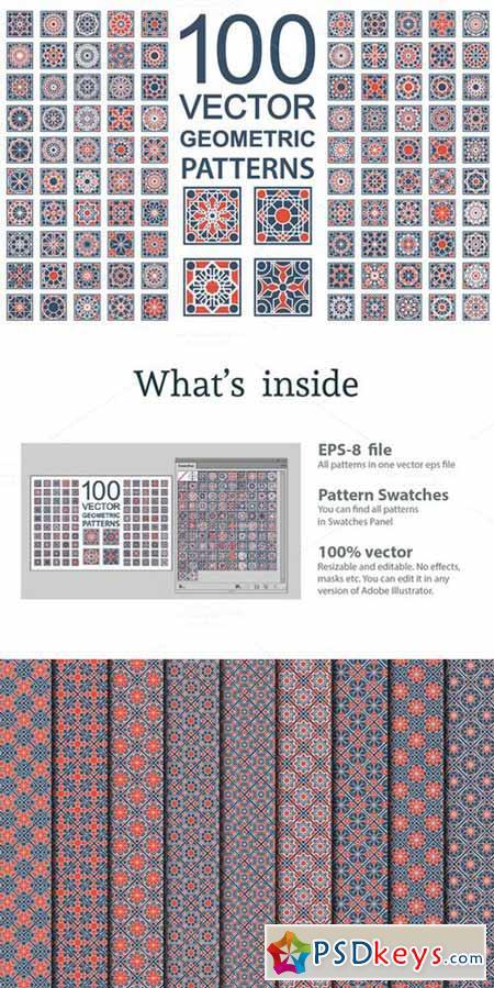 100 Vector Ornamental Patterns 563753