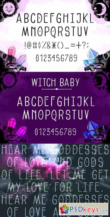 Witch Baby Display Font 560464