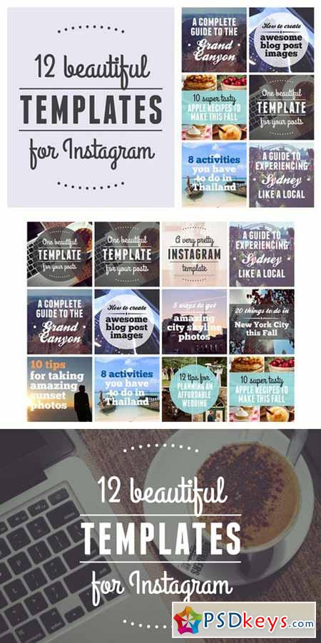 12 beautiful templates for Instagram 566302