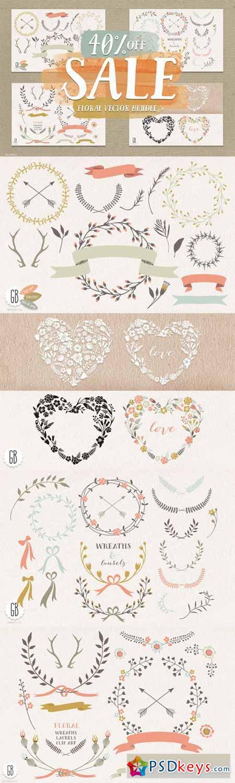 SALE! Floral elements, wreaths. 46843
