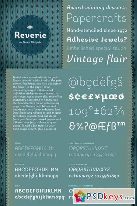 Reverie Font Family $60