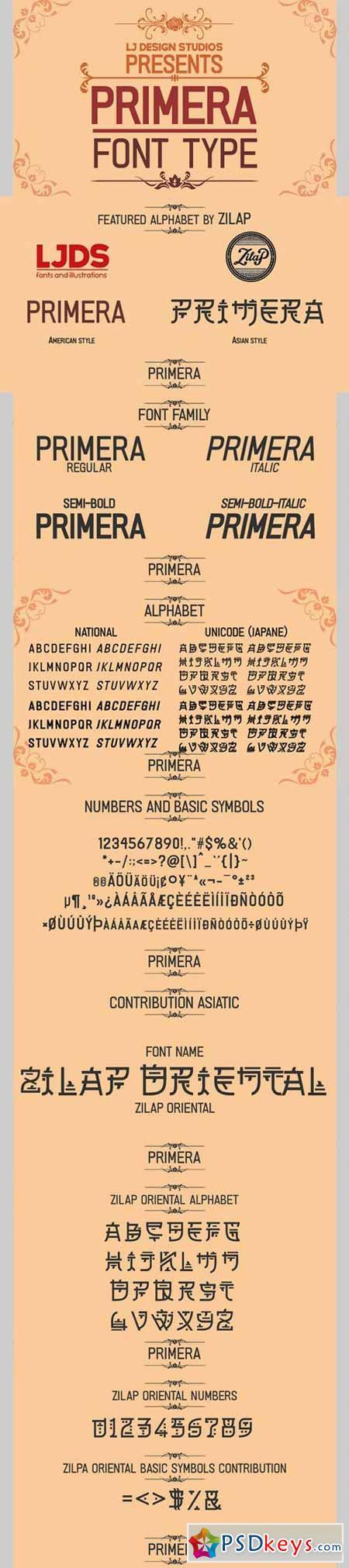 PRIMERA font