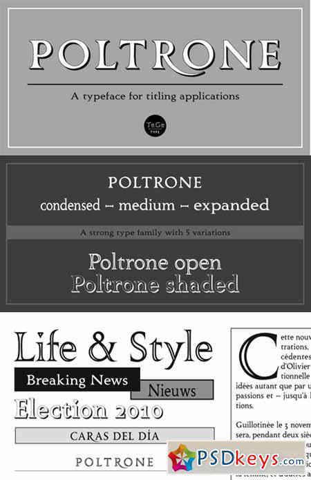 Poltrone Font Family $145