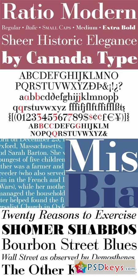 Ratio Modern Font Family $99.95