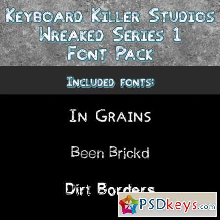 Wreaked Series 1 font pack by KKS 557710