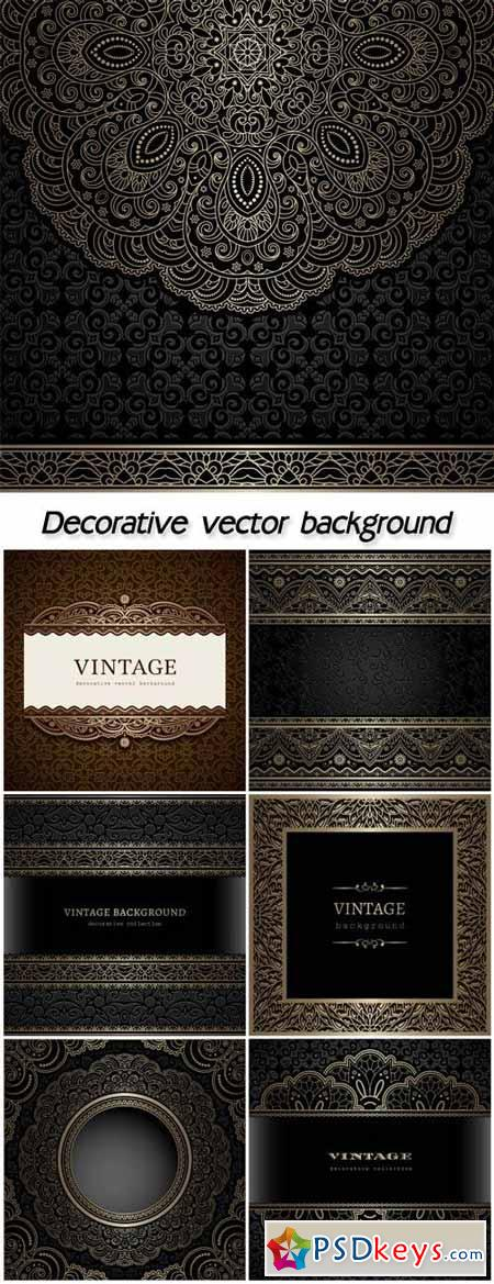 Decorative vector background, vintage patterns