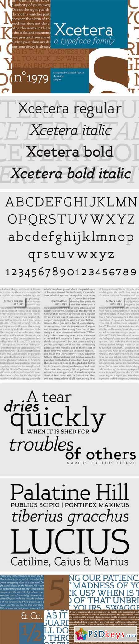 Xcetera Font Family