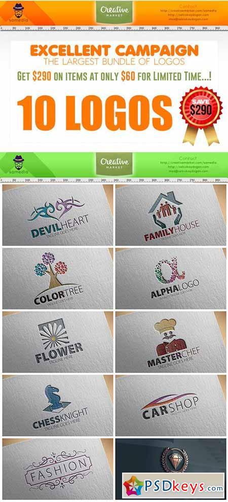 10 Logos Template 208282