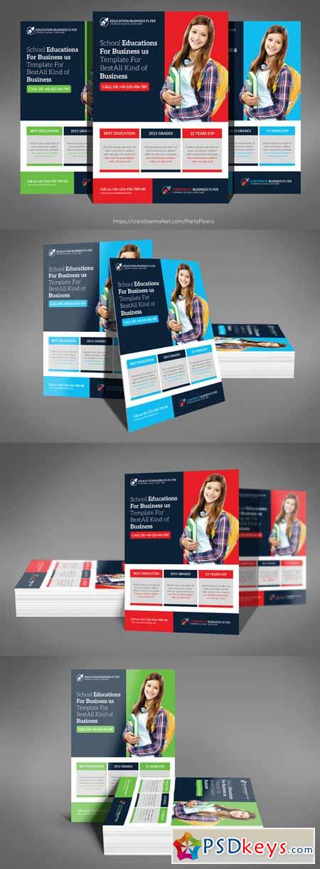 School Education Flyer Template 561443 Free Download Photoshop