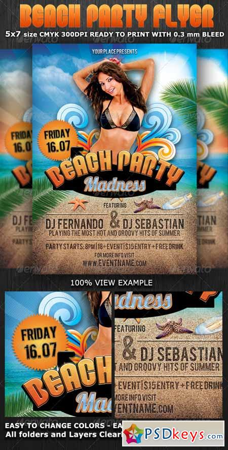 Summer Beach Party Flyer Template 2531286