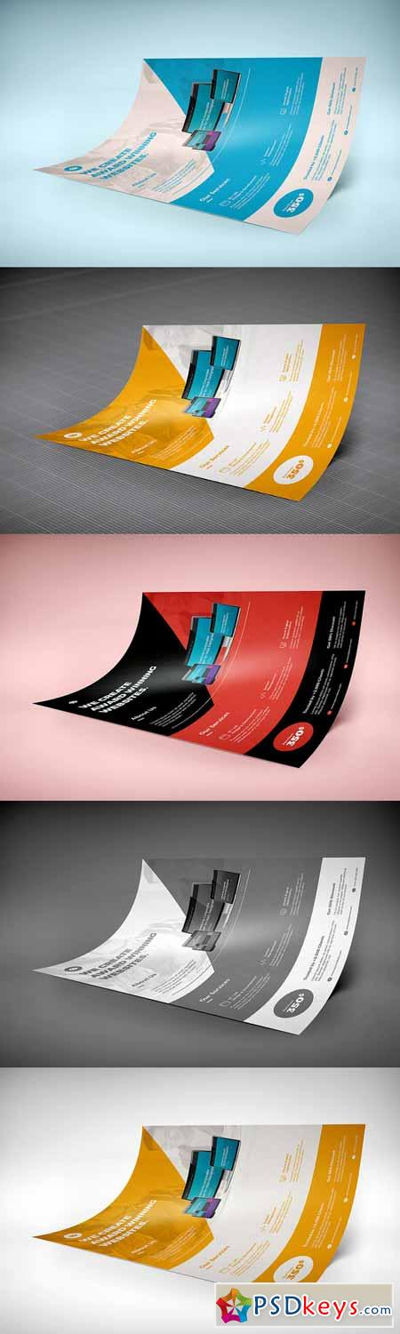 A4 Creative Flyer Mock-Up 9 562436