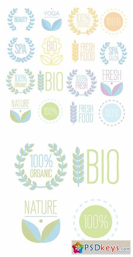 Organic,bio,ecology natural logos 487778
