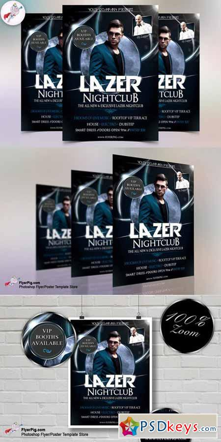 Lazer Nightclub Flyer Template 558094