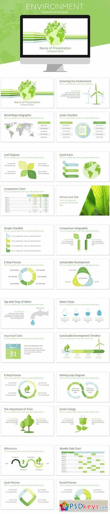 Environment PowerPoint Template 547553