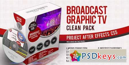 Broadcast Graphic Tv Clean Pack - After Effects Projects