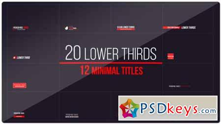 20 Lower Thirds and 12 Titles - After Effects Projects » Free