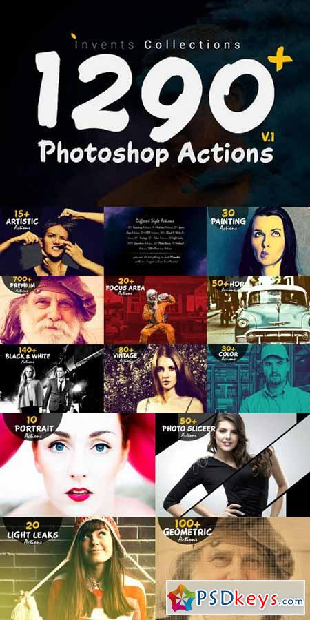 1290+ Photoshop Actions 572143