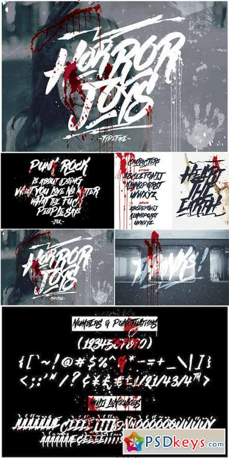 Horror Joys Typeface 572355