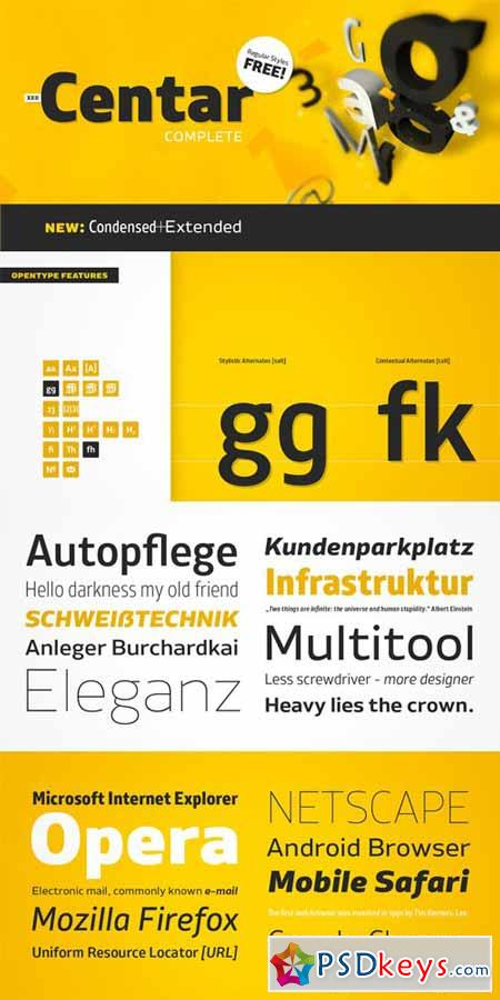 XXII Centar Font Family Complete $249