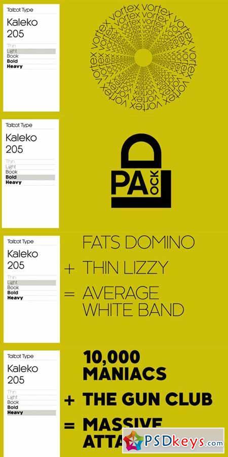 Kaleko 205 Font Family $99 » Free Download Photoshop Vector Stock
