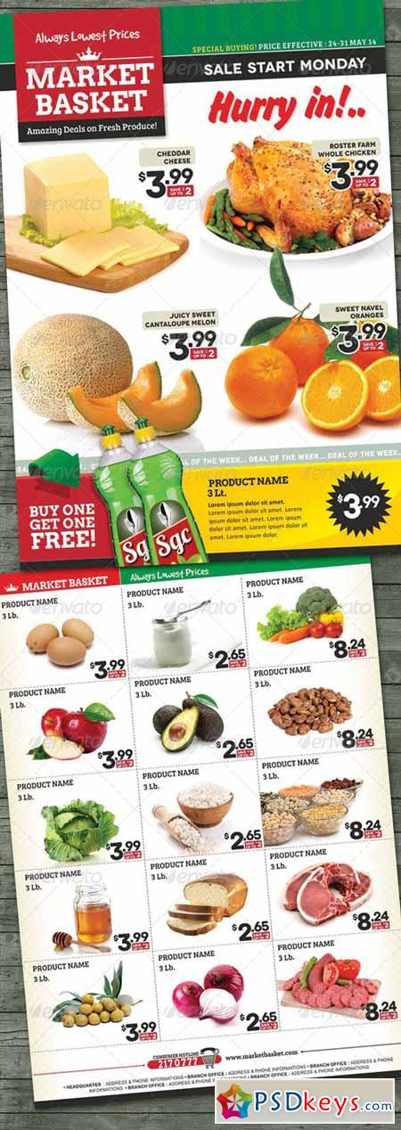 Supermarket Sale Flyer 7739177