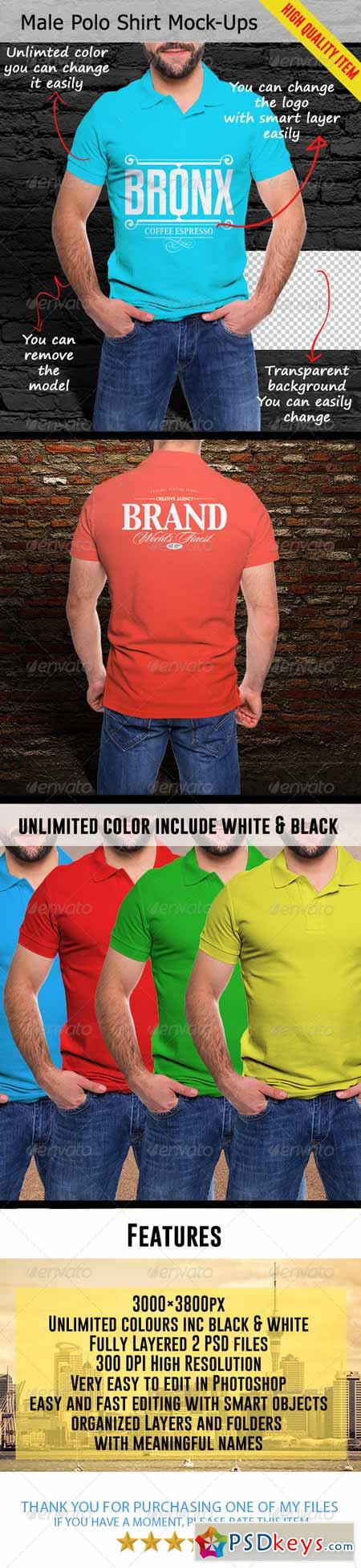 Male Polo Shirt Mock-Ups 7750662