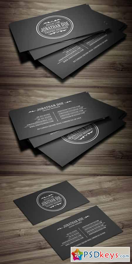 Vintage Business Card Free Download shop